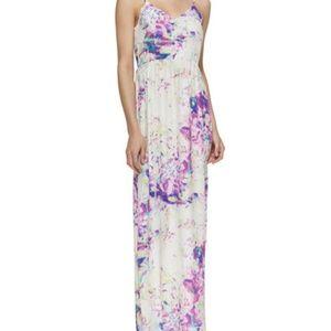 Parker silk maxi dress XS nico Watercolor floral